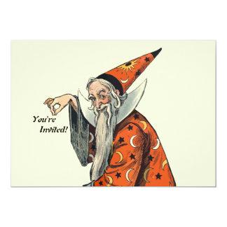 Halloween Wizard 5x7 Paper Invitation Card