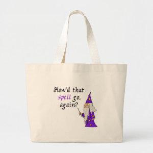 Halloween Wizard Tote Bag bag
