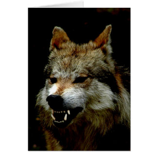 Halloween wolf greeting card