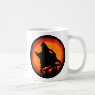 Halloween Wolf Howling Coffee Mug