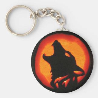 Halloween Wolf Howling Keychain