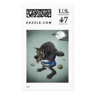 Halloween Wolfman Postage