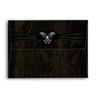 Halloween Wooden Gargoyle Custom Invite Envelope