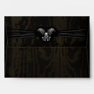 Halloween Wooden Gargoyle Custom Invite Envelope