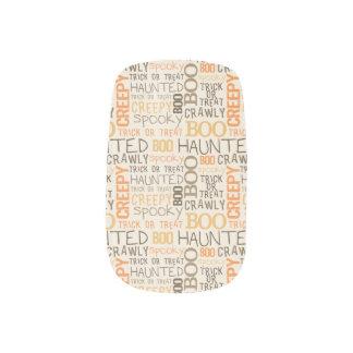halloween word minx nail art