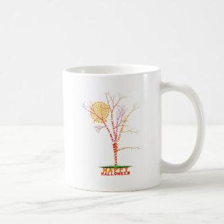 Halloween Word Tree Moon Design Coffee Mug