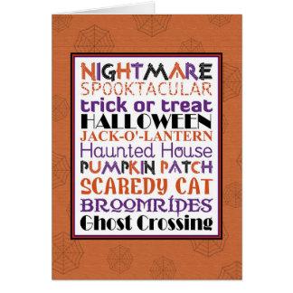 Halloween WordArt Greeting Card