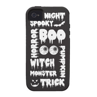 Halloween Words  Case-Mate Case iPhone 4 Covers
