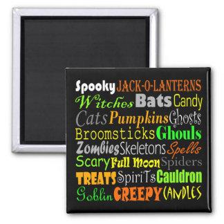 Halloween Words Magnet