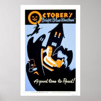 Halloween WPA de lectura 1937 Posters