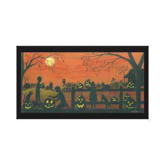 Halloween ,wrapped,canvas,print canvas print