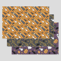 Halloween Wrapping Paper Set