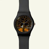 Halloween wrist watch, ghosts,Jack-O-Lantern Wrist Watch