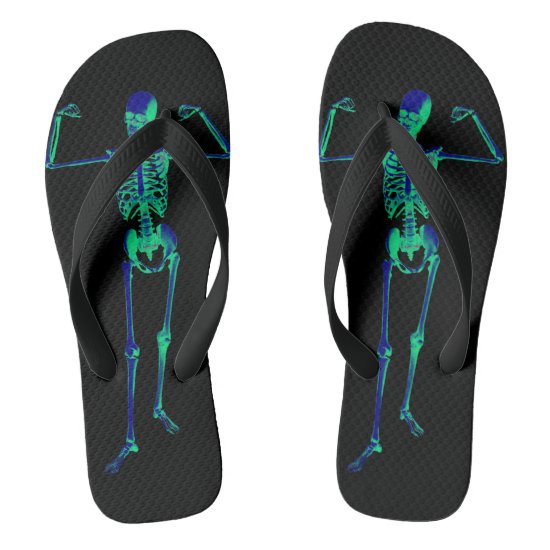 Halloween X-ray Skeleton Adult Flip Flops