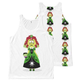 Halloween Yellow Ghoul Girl Tank. All-Over-Print Tank Top