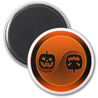Halloween Yin Yang Imán Redondo 5 Cm