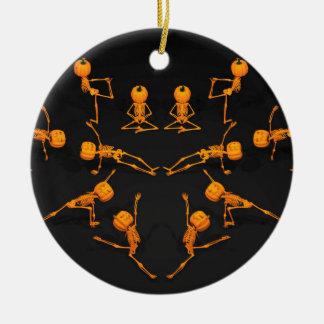 Halloween Yoga Class Ceramic Ornament
