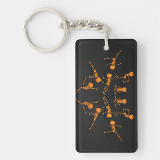 Halloween Yoga Class Keychain