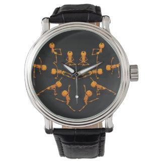 Halloween Yoga Class Wrist Watches