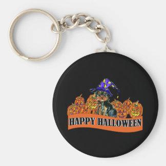 Halloween Yorkie Poo Basic Round Button Keychain