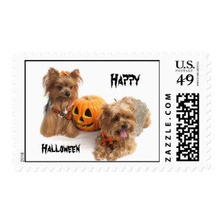 Halloween Yorkie Postage