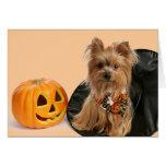 Halloween Yorkie Tarjeta De Felicitación