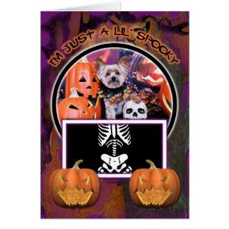 Halloween - Yorkie - Vinnie Stationery Note Card