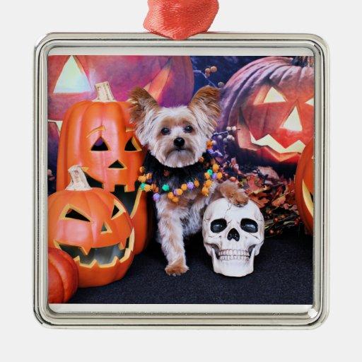 Halloween - Yorkie - Vinnie Ornaments Para Arbol De Navidad