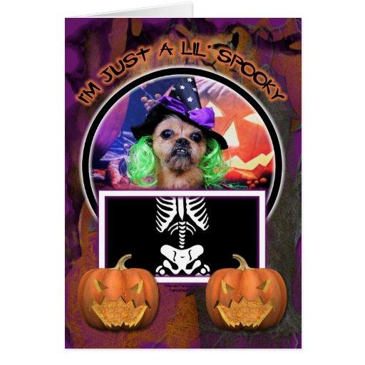 Halloween - YorkiePekeX - Clara Tarjeta De Felicitación