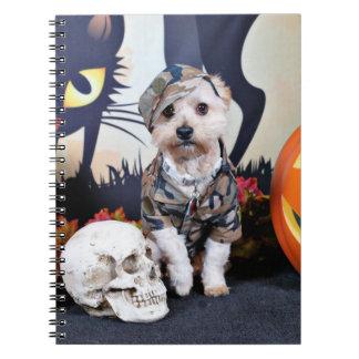 Halloween - YorkiePoo - Bentley Libros De Apuntes