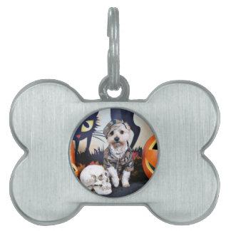 Halloween - YorkiePoo - Bentley Pet ID Tag