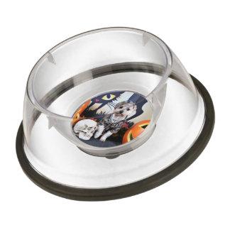 Halloween - YorkiePoo - Bentley Pet Bowl