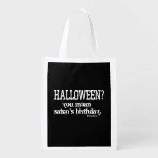 Halloween - You mean Satan's Birthday? Market Totes