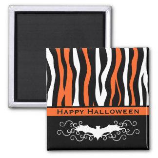 Halloween zebra pattern and vampire bat fridge magnets