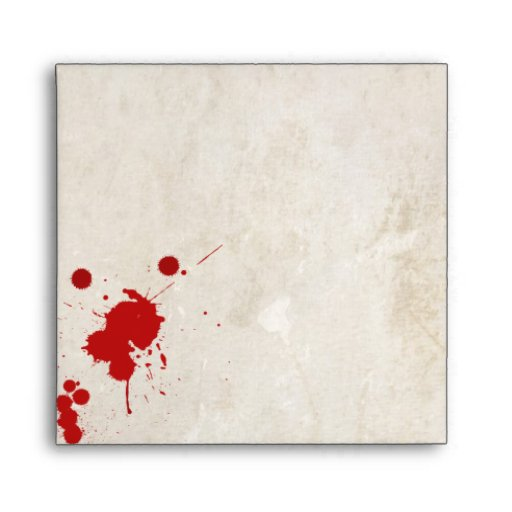Halloween Zombie Bloodstained Envelope