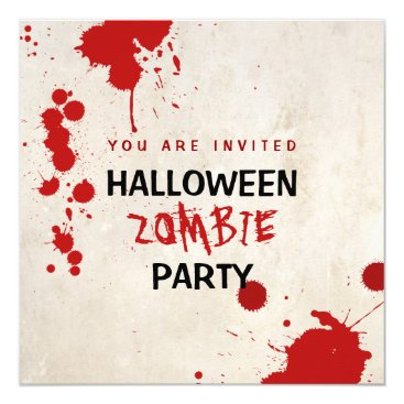 BluePlanet Halloween Zombie Bloodstained Vampire Party Card