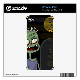 Halloween zombie - cartoon style decal for the iPhone 4S