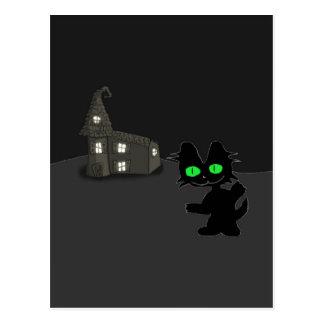 Halloween Zombie Cat Post Cards