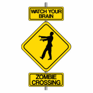 Halloween Zombie Crossing Sign Photo Cutouts