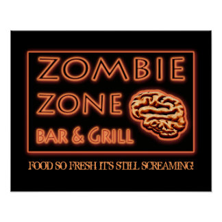 Halloween Zombie Food So Fresh Still Screaming Poster