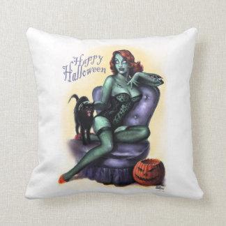 Halloween Zombie Girl Pin - Up Pillow