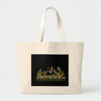 Halloween Zombie Hands Large Tote Bag