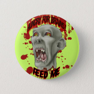 Halloween Zombie Head Button