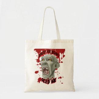 Halloween Zombie Head Tote Bag