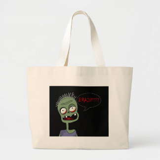 Halloween zombie large tote bag