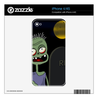 Halloween - zombie on the cemetery iPhone 4S decal
