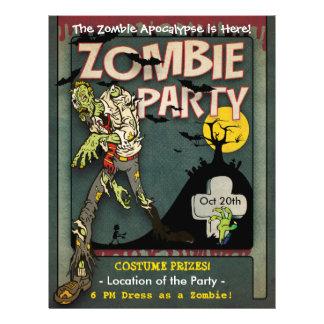 Halloween Zombie Party Flyer