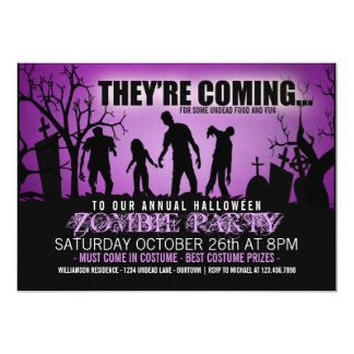 zombie party invitations  announcements  zazzle, party invitations