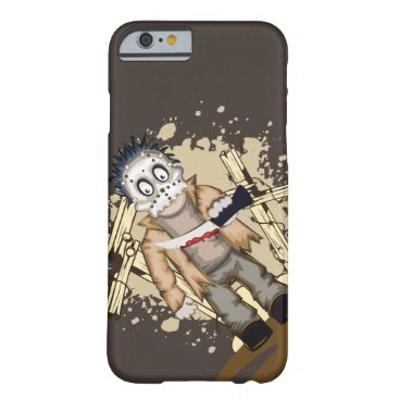 Halloween Themed Halloween zombie with blood knife in cemetery barely there iPhone 6 case