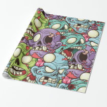 Halloween Zombies Wrapping Paper